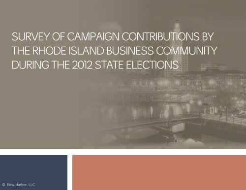 Survey of RI Business in 2012 Campaign