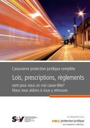 Lois, prescriptions, règlements - SEV