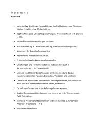 Mathematik Basisstoff • mehrstellige Additionen, Subtraktionen ...