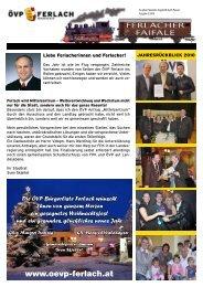 Ferlacher Faifale Ausgabe Dezember 2010 - Oevp Ferlach