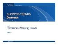 Shoppertrends 2004 - bei Nielsen