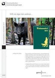 Unser Waidmannsheil-Kalender 2011 - geno kom Werbeagentur ...