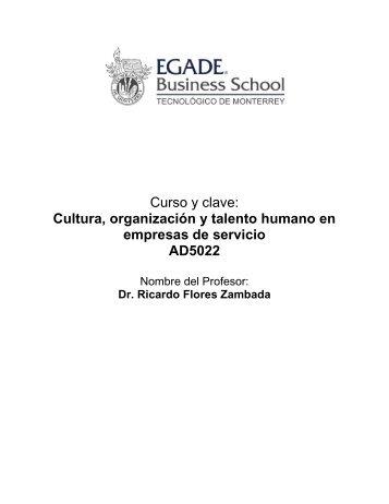 Cultura, organización y talento humano en empresas de servicio ...