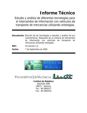 Informe Técnico - Instituto de Robotica