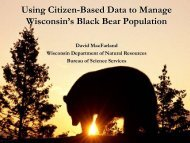 Using Citizen-based Monitoring Data to Manage Wisconsin's Black ...