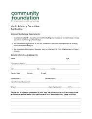 Adult Advisor Job Description - Community Foundation for ...