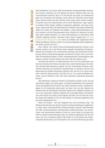 Fritz B . Simon Editorial