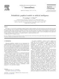 Probabilistic graphical models in artificial intelligence