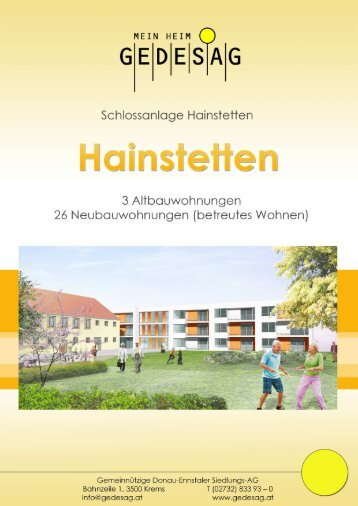 """WHA """"Hainstetten"""" - Gemeinnützige Donau-Ennstaler Siedlungs ..."""