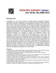 PEDIATRIC SURGERY Update Vol. 40 No. 06 JUNE 2013 - Coqui.Net