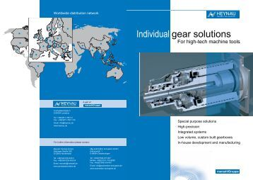 Individual gear solutions - automation and gears