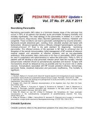 PEDIATRIC SURGERY Update Vol. 37 No. 01 JULY 2011 - Coqui.Net