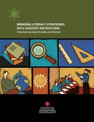 Bringing Literacy Strategies into Content Instruction
