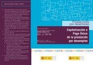 Prestaciones por desempleo Capitalización o Pago Único de la ...