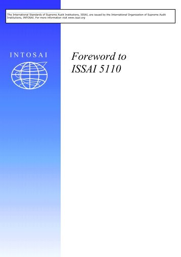 Foreword to ISSAI 5110