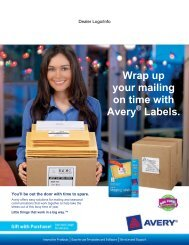 Wrap up your mailing on time with Avery Labels.