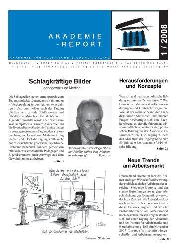 REPORT - Akademie für Politische Bildung Tutzing
