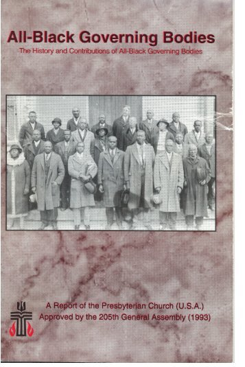All-Black Governing Bodies - Presbytery of Chicago