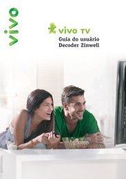 Guia do usuário Decoder Zinwell - Vivo