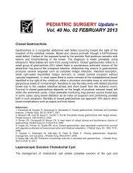 PEDIATRIC SURGERY Update Vol. 40 No. 02 ... - Coqui.Net