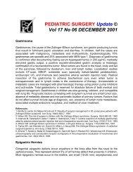 PEDIATRIC SURGERY Update © Vol 17 No 06 ... - Coqui.Net