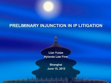 PRELIMINARY INJUNCTION IN IP LITIGATION - Marques