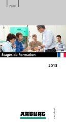 2013 Stages de Formation - Arburg