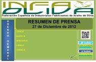 Resumen Prensa 27-12 - Aceites y Olivos