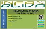 Resumen Prensa 14-12 - Infaoliva