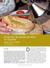 Consumo de aceite de oliva en España - Aceites y Olivos