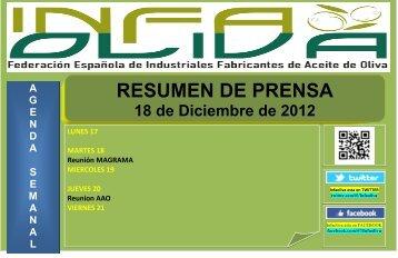 Resumen Prensa 18-12 - Infaoliva