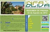 RESUMEN DE PRENSA 22 de Agosto de 2012 - Aceites y Olivos