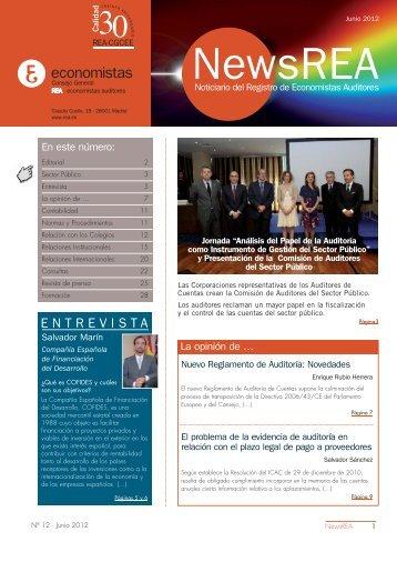News REA nº12(formato pdf) - Consejo General de Colegios de ...