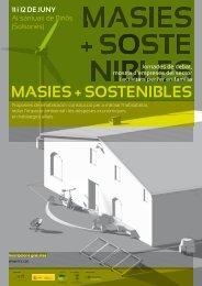MASIES + SOSTENIBLES - Consorci per al desenvolupament de la ...