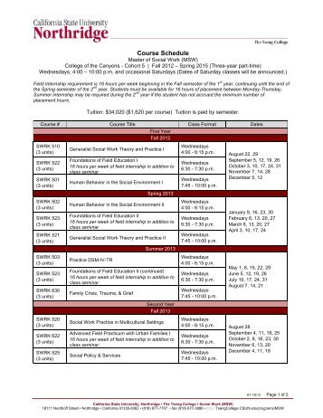 Course Schedule - Tseng College - California State University ...