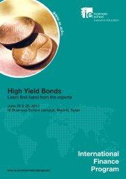 High Yield Bonds International Finance Program