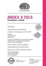 ARDEX X 701S Flexkleber, schnell