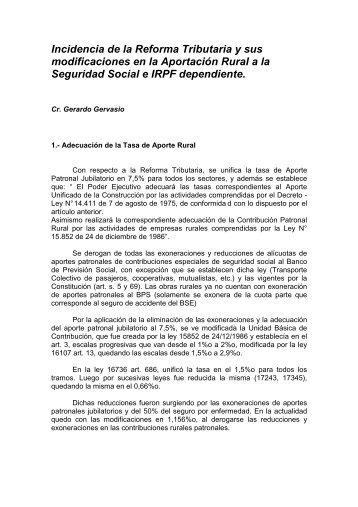 Incidencia de la Reforma Tributaria y sus modificaciones en la ...