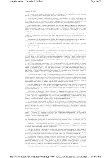 Sociedad administradora de inmuebles arrendados propiedad de ...