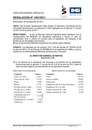 Valores para la liquidación del impuesto por el ejercicio 1º de julio ...
