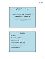 América Latina & la Bendición de los Recursos Naturales