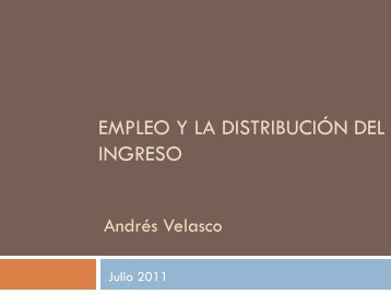 Empleo y la Distribución del Ingreso
