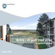 """Greve – et godt sted at bo"""", August 2006 - Greve Kommune"""