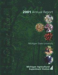 01 ANNUAL REPORT - AgBioResearch - Michigan State University