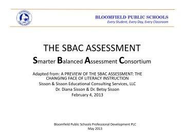 Smarter Balanced Assessment Consortium (SBAC) - Bloomfield ...
