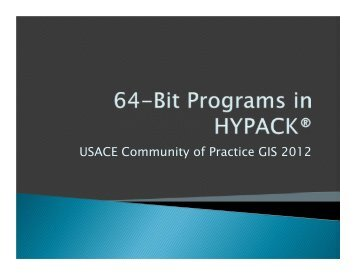 64-Bit Programs in HYPACK_MBMax64