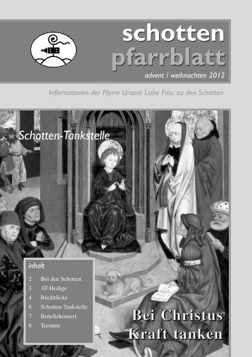 Ausgabe Nr. 41, Advent 2012 - Schottenpfarre