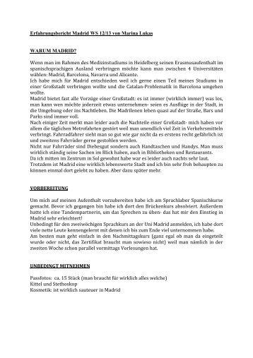 Erfahrungsbericht Madrid WS 12/13 von Marina Lukas ... - Erasmus
