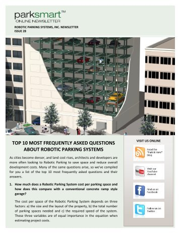 robotic parking systems design guidelines