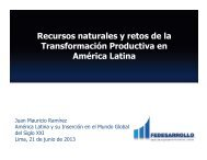 Recursos naturales y retos de la Transformación Productiva en ...